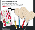 Today – Feb 13, JCPenny Kids Zone is offering Free Kid's Valentine day Craft kit, in stores.