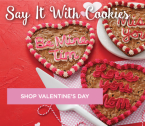 Free Shipping and up to 30% off selected Valentine's Day treats at Mrs. Fields.